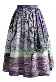 Under The Jacaranda Printed Midi Skirt