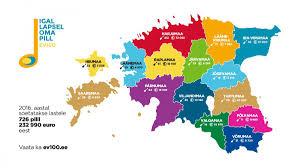 Eesti kaart maakonnad