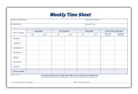 weekly time card time sheet weekly 2 part carbonless 100 st pk