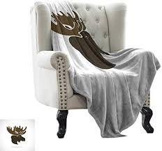 LsWOW Dog Blanket Moose,Deer Head Canadian ... - Amazon.com
