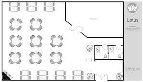 restaurant floor plan. Restaurant Floor Plan - Kitchen Placement