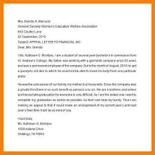 Writing An Appeal Letter Classy College Appeal Letterappeal Sample Letter For Financial Aid