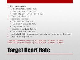 target heart rate karvonen method find estimated heart rate max