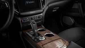 luxury interior of a maserati ghibli black leather seats rovere trim maserati interior