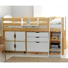 cabin bed with storage. Exellent Storage Scallywag Kids Contour Cabin Bed Including 3 Drawer Chest Quad Storage  Unit And Narrow Shelf Inside With D