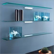 Glass Wall Shelves (I'm mapping out living room accessories)