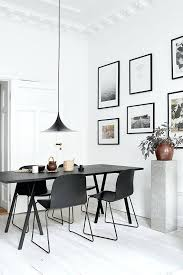 three pendant lights over dining table black lamp art gallery wall spacing india