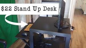 How to build your own stand up desk for $22 from Ikea - DIY Project