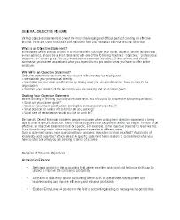 Resume Samples For Fresh Graduates Sample Of Career Objective In Job