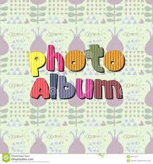 Album Word The Original Spelling Of The Word Photo Album Stock Vector