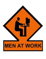 Resultado de imagem para men at work images