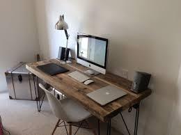 custom wood office furniture. Industrial Chic Reclaimed Custom Hairpin Leg Office Desk Tables. Steel And Wood Metal Hand Made Furniture U