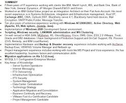 Job Resume Summary Examples