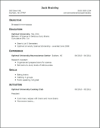 examples of work experience on a resume no work experience resume template districte15 info