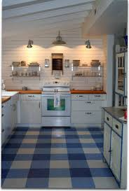 Retro Kitchen Flooring Lake Burton Cottage I Did Using Ikea Cabinets Vinyl Tiles And