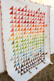 Triangle Quilt - would also be beautiful in shades of all one ... & Triangle Quilt - would also be beautiful in shades of all one color Adamdwight.com