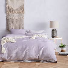 Mercer + Reid - Luna Quilted Velvet Quilt Cover Lilac - Bedroom ... & Save Adamdwight.com