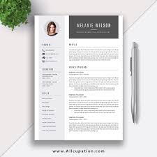Resume Template Download Word Format Modern Cv Template Job Resume Template Cover Letter References Instant Download Mac Pc Melanie