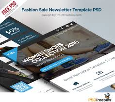Company Newsletter Template Free Fashion Sale Newsletter Free Template Psd Psdfreebies Com Company 24