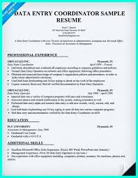 Office Coordinator Resume Sample Pin on Resume Sample Template And Format Pinterest Data entry clerk 47