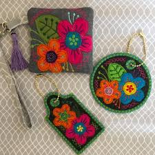 In The Hoop Luggage Tag Designs Flower Luggage Tags And Zipper Purse 4x4 5x5 6x6 Flower