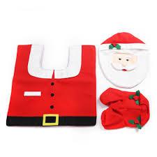 3 piece santa toilet seat cover set