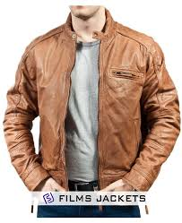 men s motorcycle vintage soft tan leather jacket