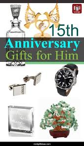 15th wedding anniversary gift ideas for men