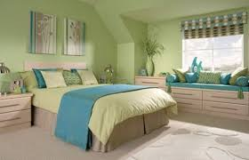 green and blue bedroom. green bedroom ideas \u2013 bring the fresh look to your room » with blue accent and e