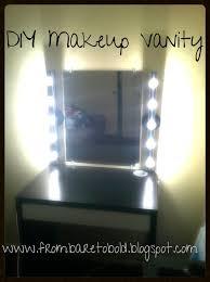 diy makeup vanity on a budget