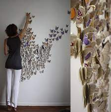 See more ideas about wall art groupings, home, art grouping. Handmade Butterflies Decorations On Walls Paper Craft Ideas Homemade Wall Decorations Paper Butterflies Crafts