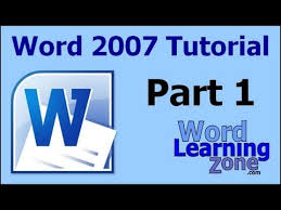 Microsoft Word 2007 Tutorial Part 01 Of 13 Word Interface 1