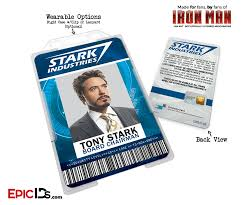 Badge Name Epic Man Stark Avengers Inspired Industries Cosplay Iron - Ids Emplo