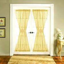 back door curtain ideas eyelet in window remodel treatments
