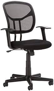 AmazonBasics <b>Mesh</b>, Mid-Back, Adjustable, Swivel <b>Office Desk</b> ...