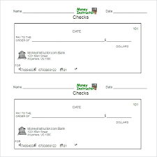 blank check templates printable blank check template format pretend stub templates cheque