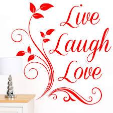 Rubybloom Designs Rubybloom Designs Live Laugh Love Quote Words Scroll Art Wall Sticker