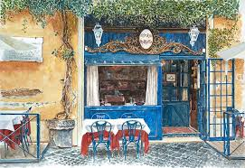 rome painting osteria margutta rome italy by anthony butera
