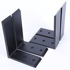 1 of 7free 4 heavy duty black steel 6 x8 countertop support brackets corbel lot l
