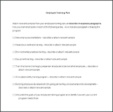 New Employee Training Program Template Staff Training Plan Template Jimbutt Info