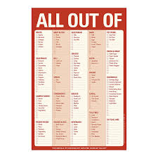 Shopping List Amazon Knock Knock All Out Of Pad Red Shopping List Pad 16