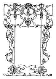Kleurplaat Kader Art Nouveau Afb 27391 Images