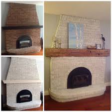 fair whitewash red brick fireplace with diy whitewash a brick fireplace fireplace makeover before and