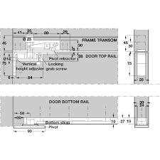 Double Swing Doors Double Action Pivot Set For Double Swing Doors Floor Mounted