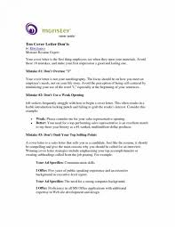 Cover Letter Internship Monster Best Professional Resume Templates