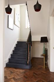 Painted Wood Stairs Happy Friday Wooden Stairs Dark Blue And Dark