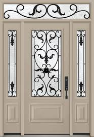 white entry doors with sidelights. Secure Yet Artistic Home Entrance Using Fiberglass Front Door With White Entry Doors Sidelights E