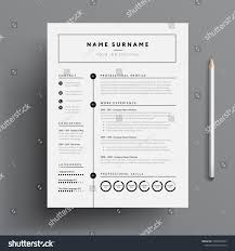 Minimal Professional Cv Resume Template Super Stock Vector Royalty