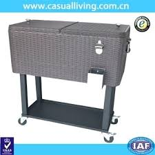 quart rolling wheels ice chest portable patio party bar drink entertaining outdoor cooler cart on beverage