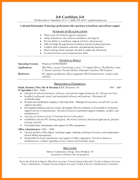 Technical Support Specialist Resume Sample Luxury Technical Support